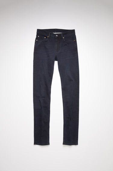 Acne Studios North Blue Black jeans are crafted from comfort stretch denim that's faded and whiskered to give a worn-in appeal. They're shaped for a slender fit with slim legs and a mid-rise waist.