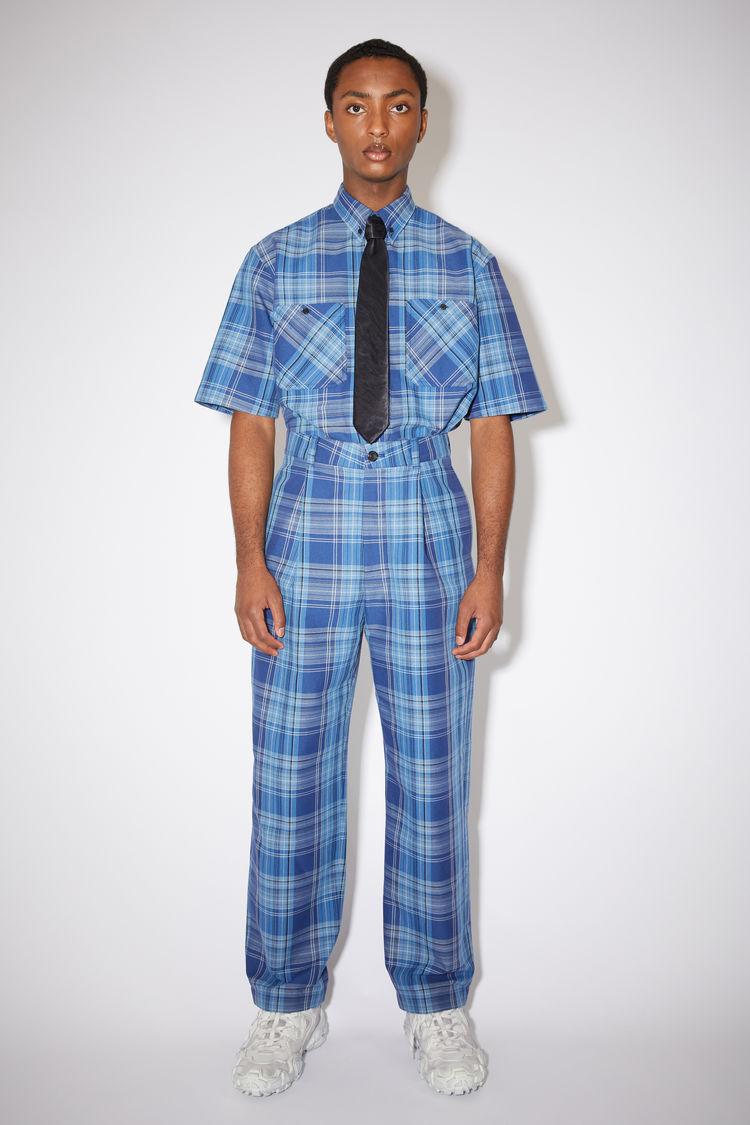 Acne Studios Wide leg trousers Blue/navy