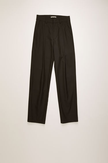 Acne Studios black twill trousers are cut a straight-leg fit and finished with wide belt loops and patch pockets.