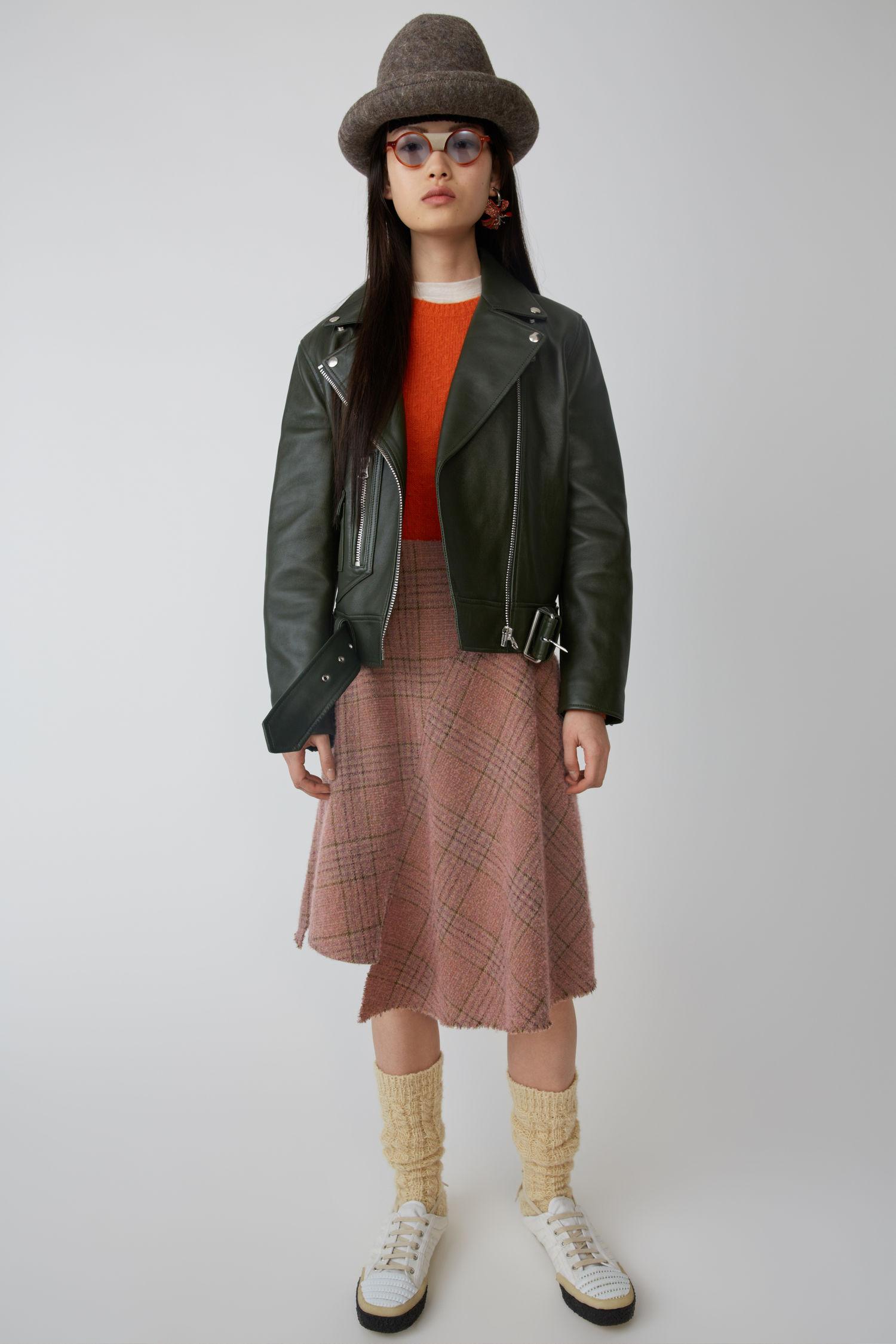ACNE STUDIOS A-line skirt pink/brown