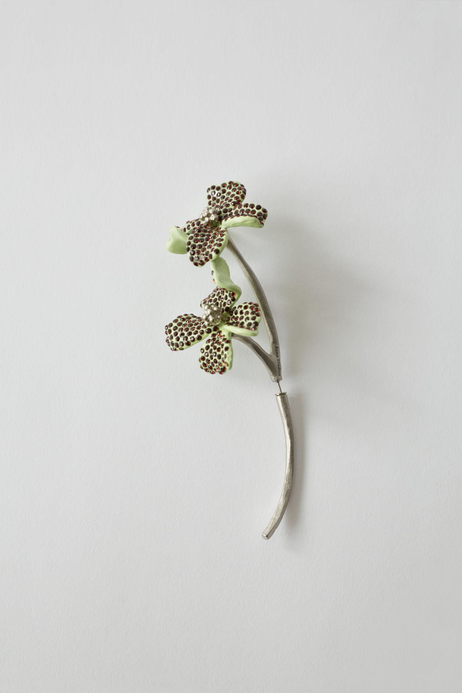 Flower earring mint/burgundy