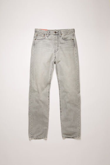 Acne Studios 1996 Stone Grey jeans are crafted from rigid denim and shaped with a high waist that fits slim through the hips and thighs before falling loosely over the calves.