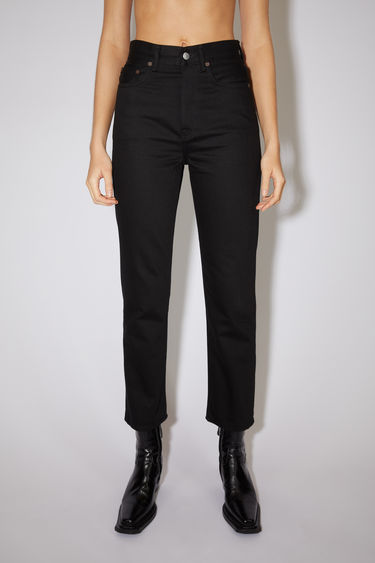Acne Studios Mece Forever Black jeans are crafted from rigid denim and shaped to sit high on the waist before falling into cropped, straight legs.