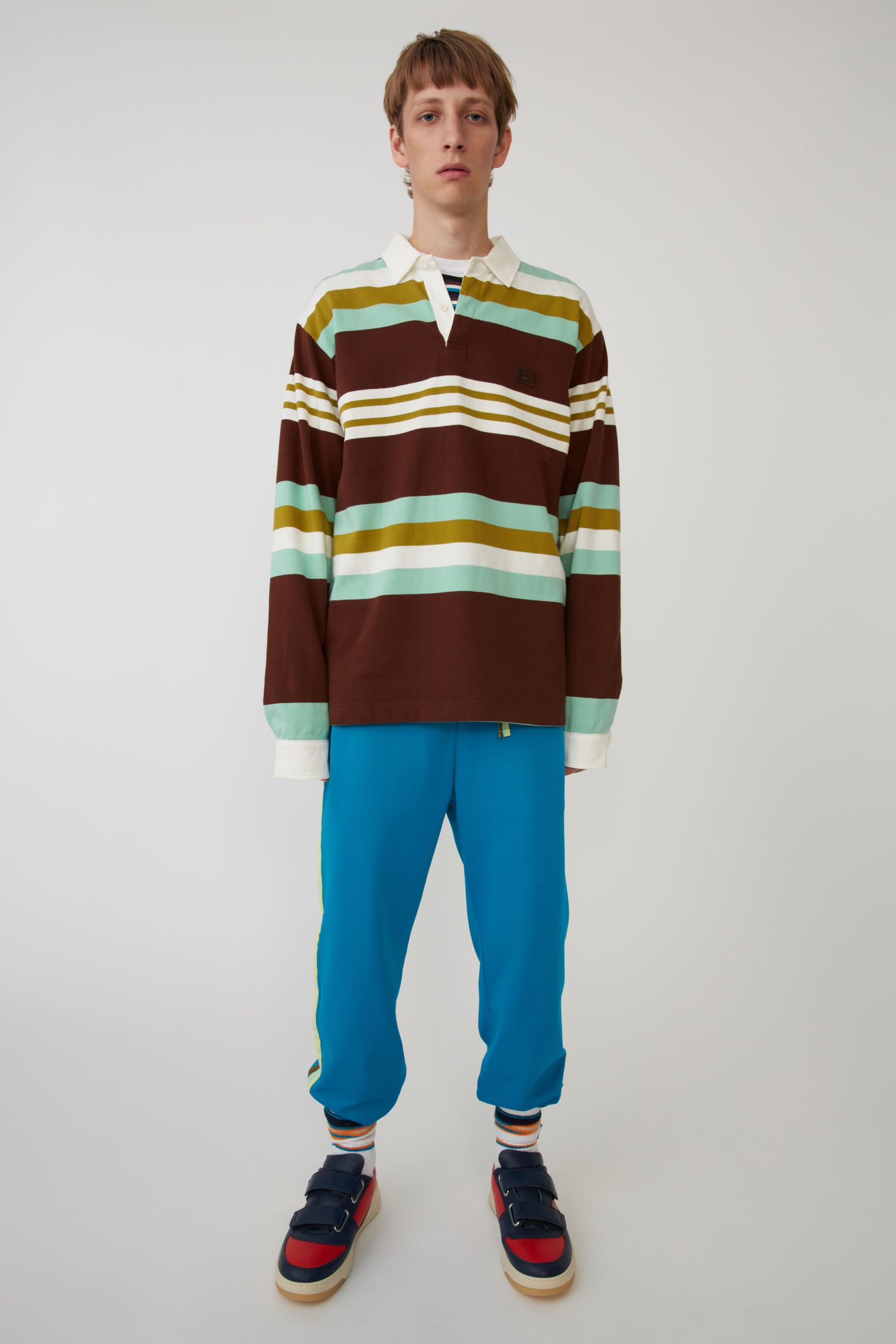 Rugby shirt brown/mint