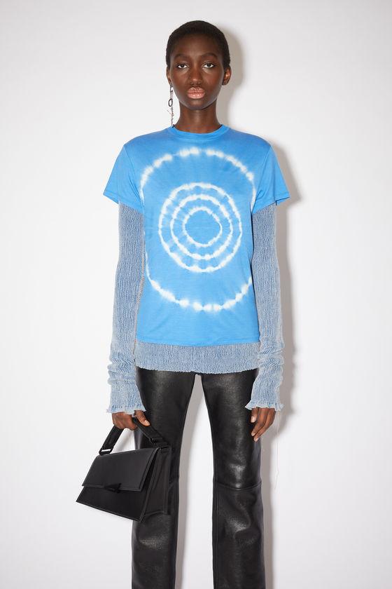 아크네 스튜디오 티셔츠 Acne Studios Tie dye t-shirt - Ocean blue