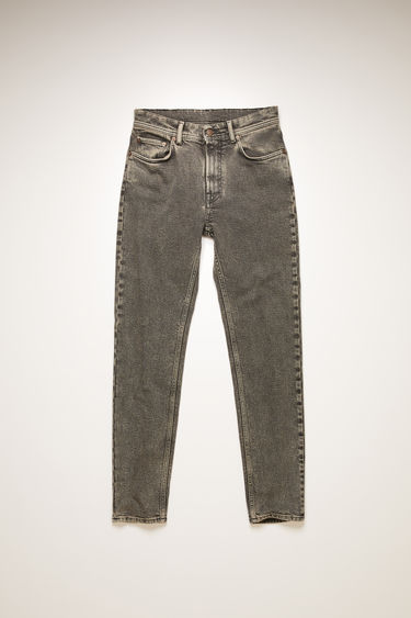 Acne Studios Melk Black Pepper jeans are crafted from comfort stretch denim that's stonewashed to give a worn-in appeal. They're cut to a high-rise waist with a slim, tapered leg and features subtle fading around the waistband and seams.