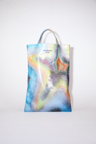 Acne Studios multicolor oilcloth tote bag features a multicolour design. In collaboration with Ben Quinn.