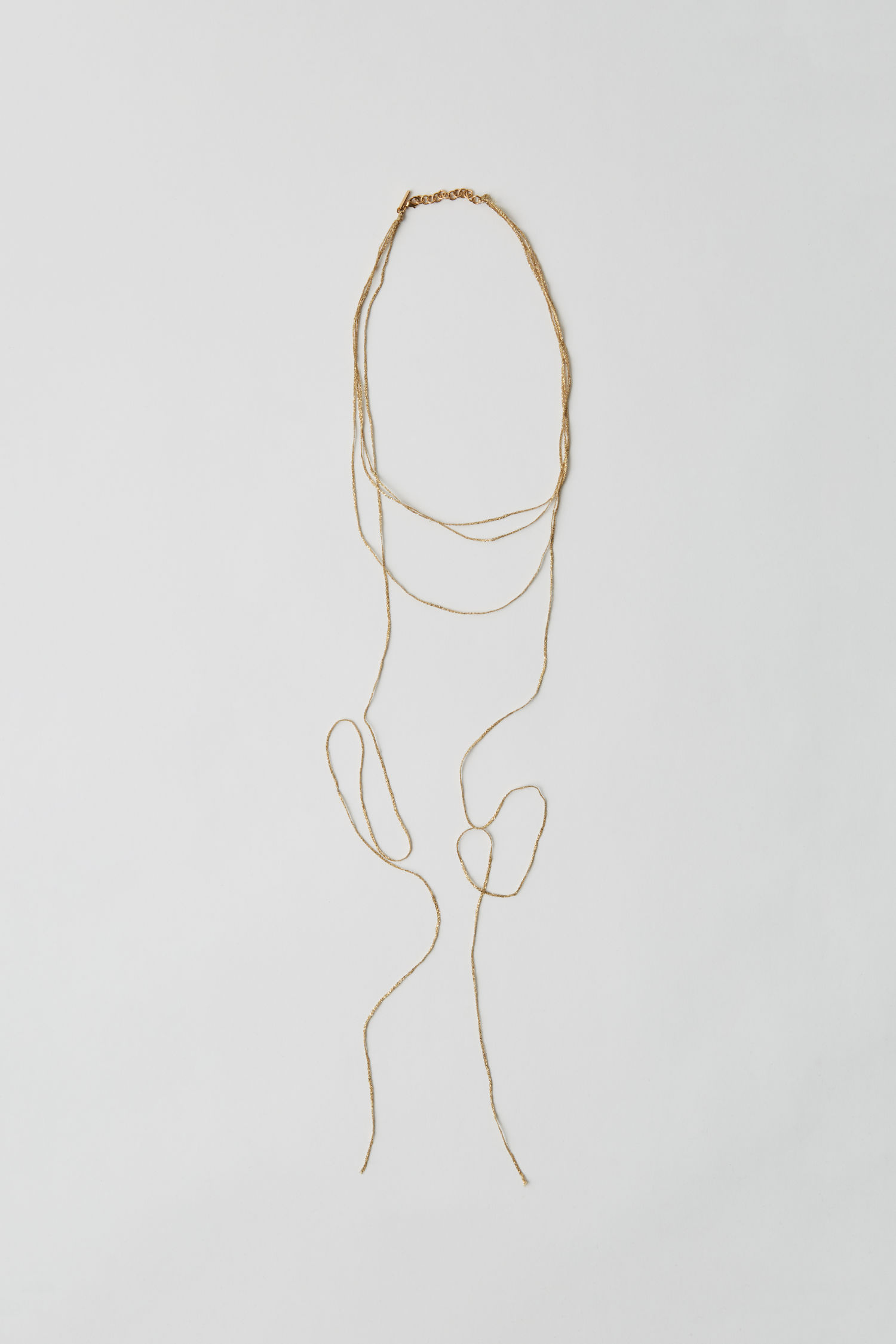 Crochet necklace gold
