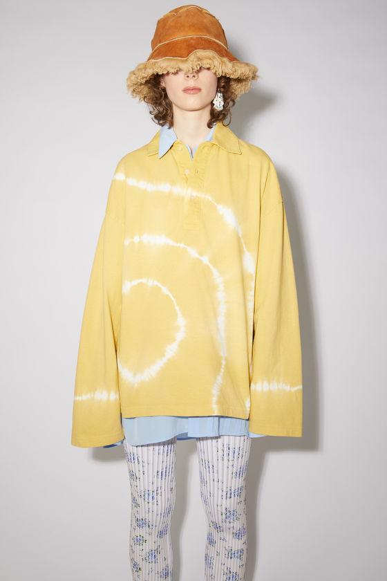 아크네 스튜디오 폴로 셔츠 Acne Studios Tie dye polo shirt - Mustard yellow