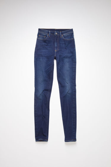 Acne Studios Peg Dark Blue jeans are crafted from super stretch denim that's washed for a soft, faded finish. They're shaped to sit high on the waist with skinny legs that taper and crop at the ankles.