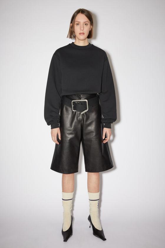 아크네 스튜디오 반바지 Acne Studios Lined leather shorts - Black