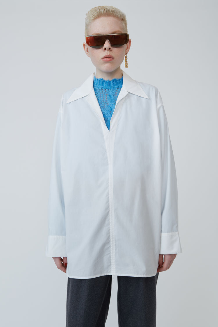 Peasant Inspired Shirt White by Acne Studios