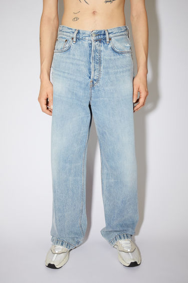 Acne Studios light blue jeans are made from from rigid denim with a deep rise and a loose leg.