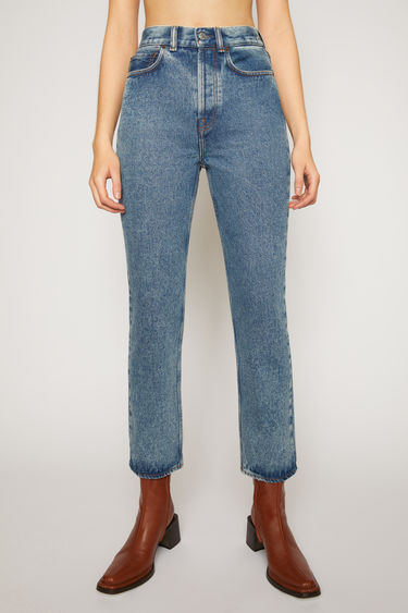 Acne Studios Mece Blue Pepper jeans are crafted from rigid denim that's stonewashed to give a worn-in appeal. They're shaped to sit high on the waist before falling into cropped, straight legs.