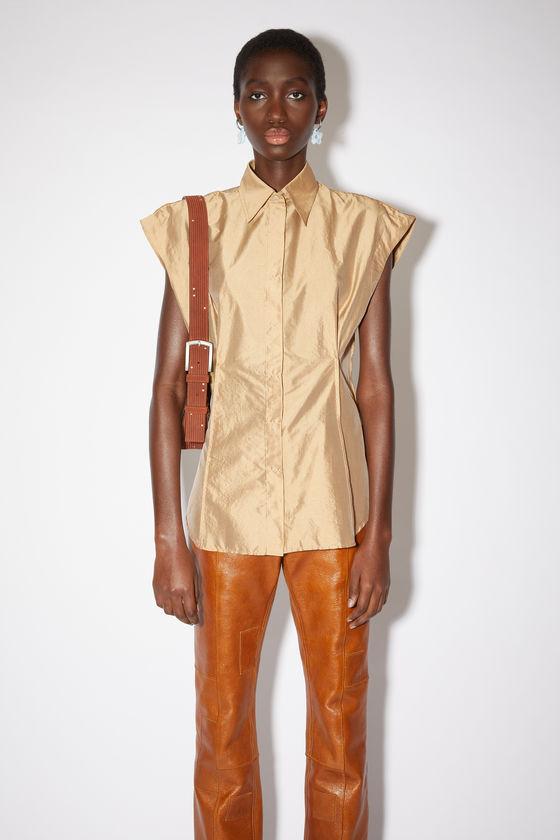 아크네 스튜디오 셔츠 Acne Studios Shiny taffeta shirt - Beige