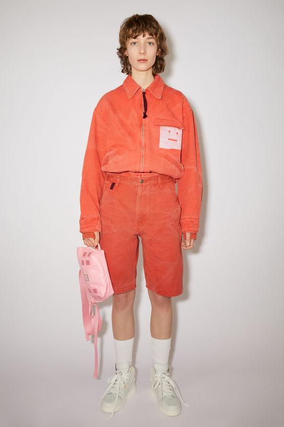 아크네 스튜디오 반바지 Acne Studios Workwear shorts - Mandarin orange