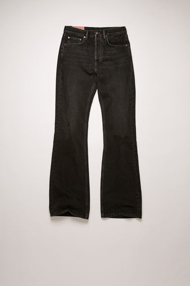 Acne Studios 1992M Vintage Black jeans are crafted from rigid denim that's faded and whiskered to give a time-worn appeal. They're cut to a relaxed, bootcut silhouette with a high-rise waist and finished with a concealed button placket.