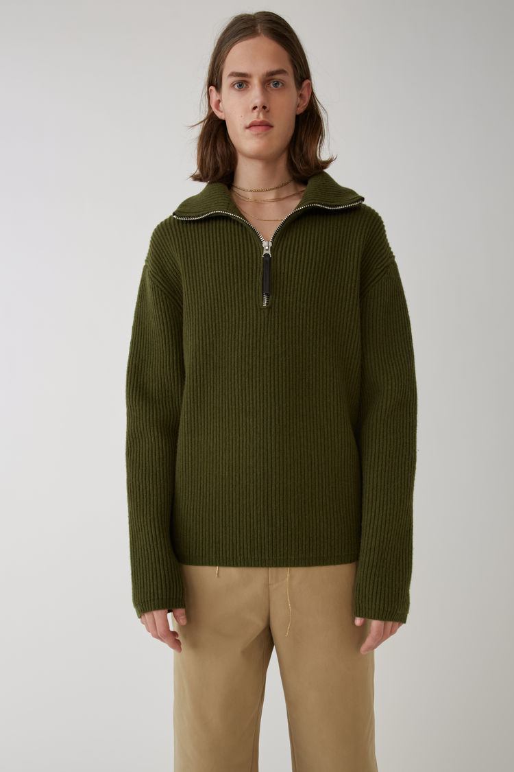 Fisherman Sweater Hunter Green by Acne Studios