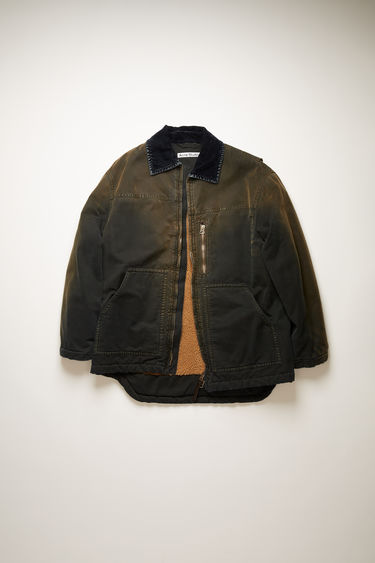 Acne Studios black chore jacket is made from cotton-canvas that's stonewashed to create a soft, washed-out finish. It features a flocked denim point collar, two kangaroo pockets and a metal zip closure.