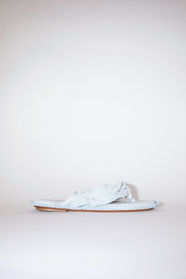 Acne Studios light blue sandals are made of calf suede leather. The size runs larger, please take a size smaller than usual.