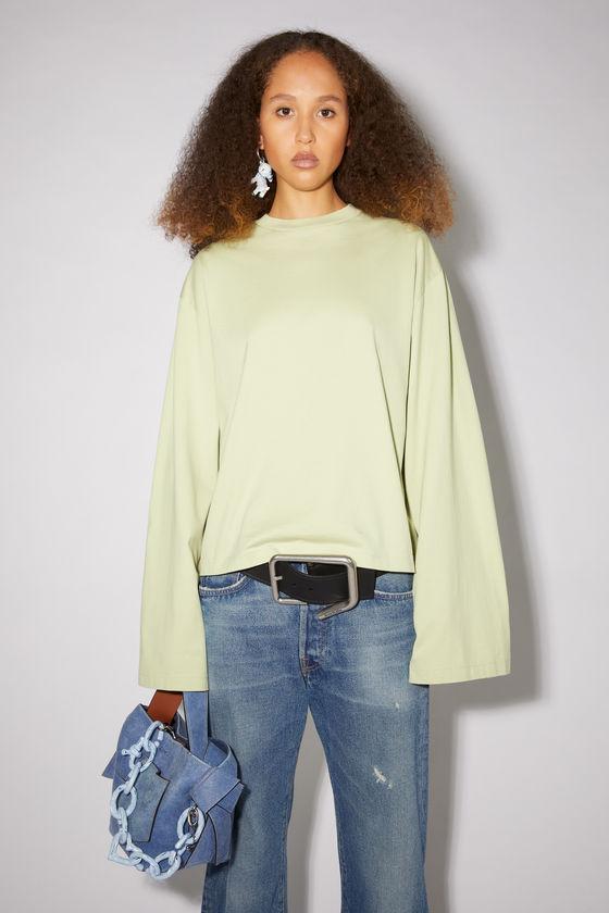 아크네 스튜디오 티셔츠 Acne Studios Straight fit t-shirt - Pistachio Green