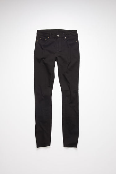 Acne Studios stay black jeans are made from super stretch denim with a mid rise and a skinny leg.