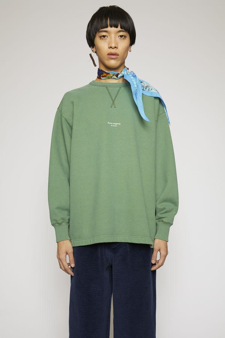 Acne Studios Tops Reverse-logo sweatshirt Bottle green