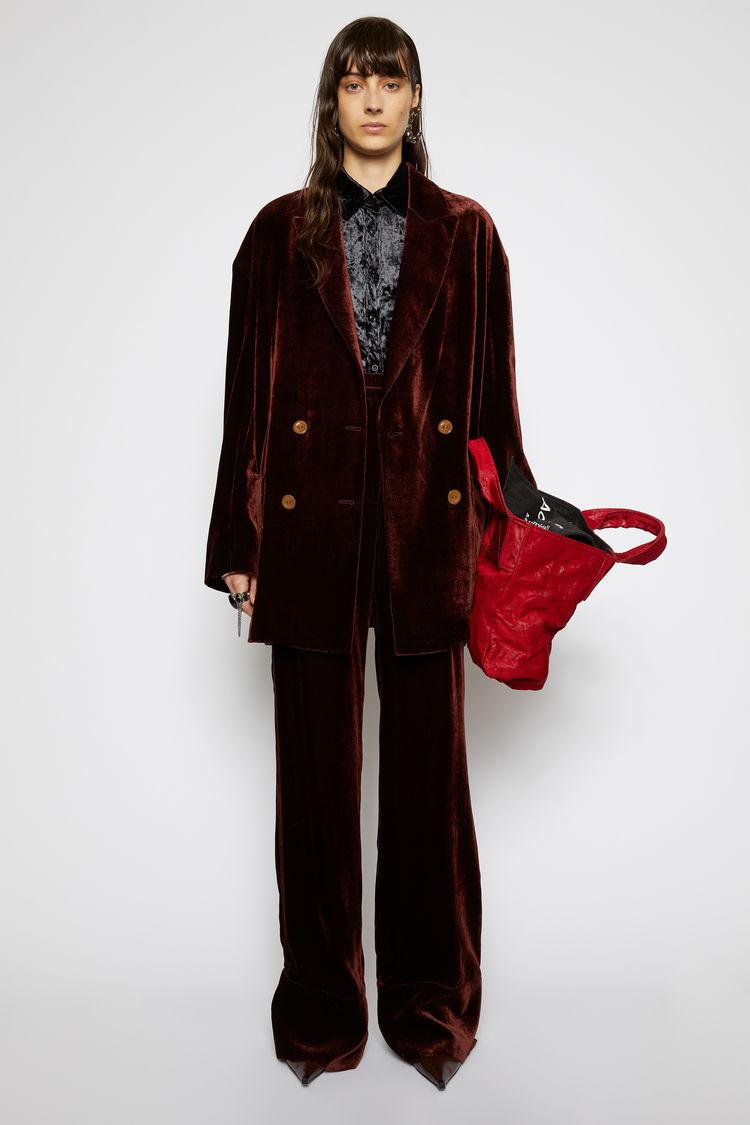 Acne Studios Velvet trousers Dark brown