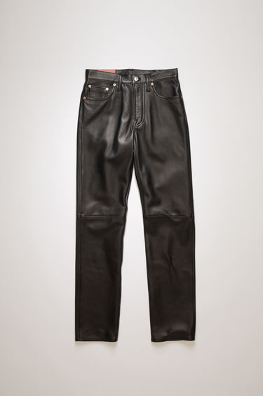 Acne Studios 1997 Leather trousers are cut to sit high on the waist with a straight-leg fit and finished with a classic five-pocket construction.