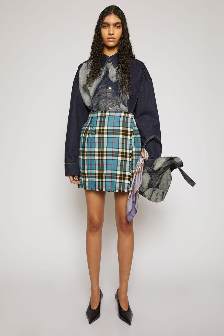 Acne Studios Check mini skirt Blue/white
