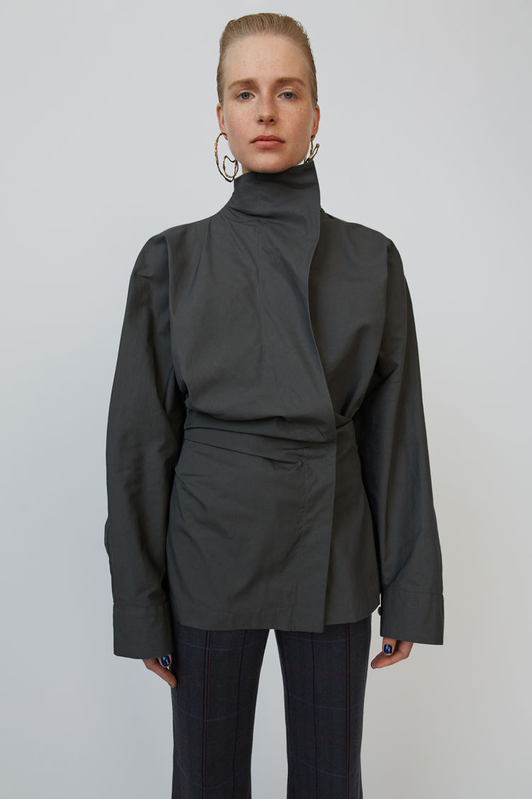 Verdrehtes Hemd Anthracite Grey by Acne Studios