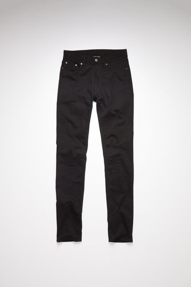Acne Studios stay black jeans are made from comfort stretch denim with a mid rise and a skinny leg.
