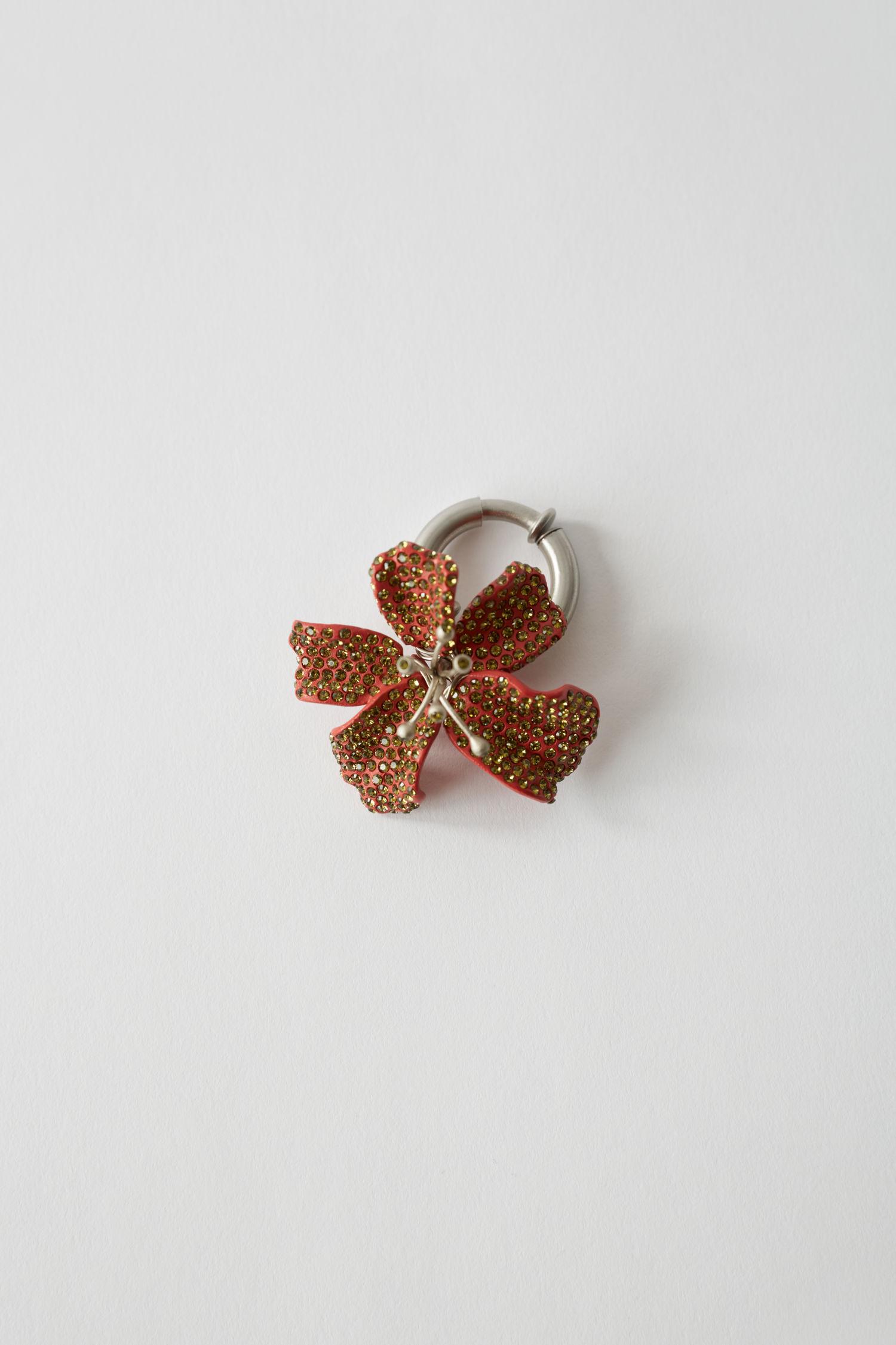 Flower clip red/khaki