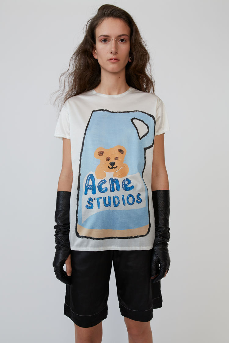Ceramic Print T Shirt Blue/Multi by Acne Studios