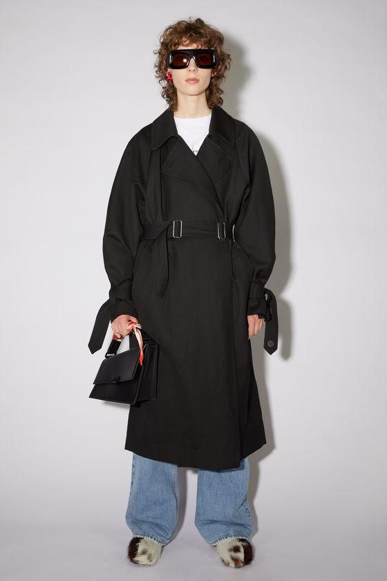 아크네 스튜디오 트렌치 코트 Acne Studios Lined trench coat - Black