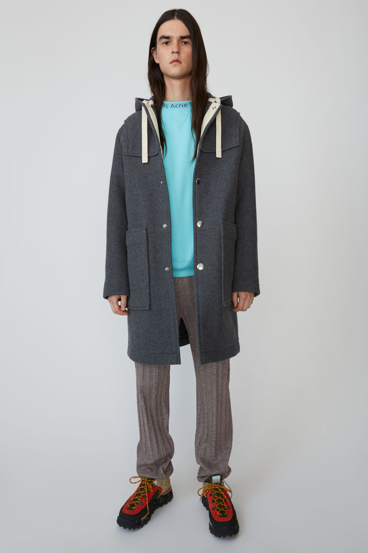 Oversized Duffle Coat Charcoal Grey by Acne Studios