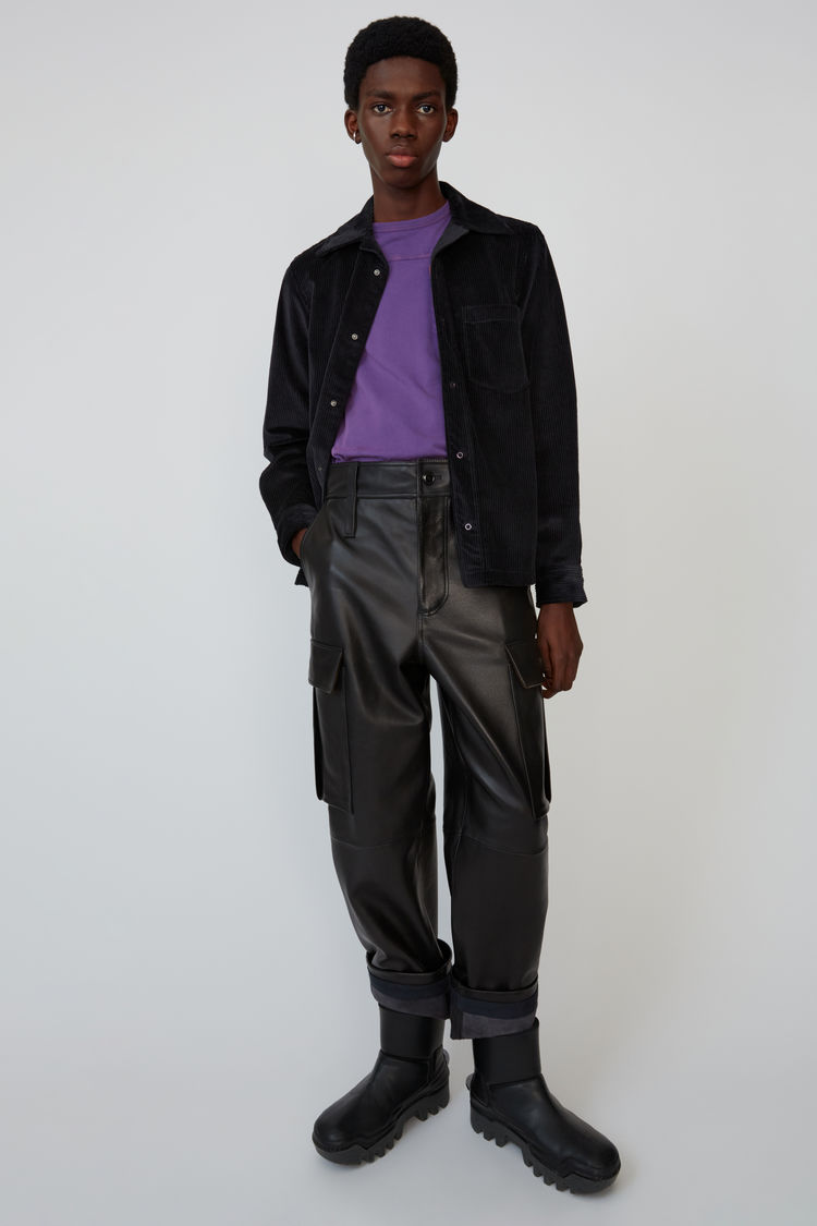 Leather Cargo Trousers Black by Acne Studios