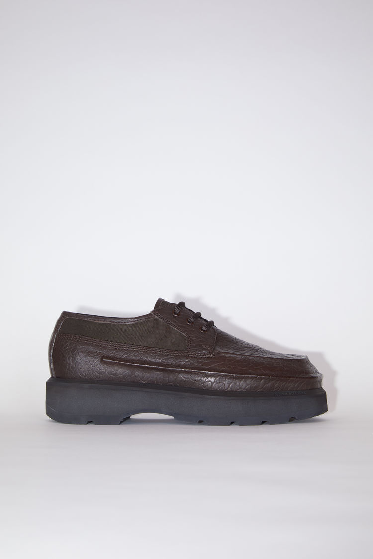 Acne Studios Leather derby shoes Coffee brown