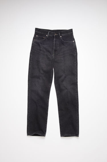 Acne Studios Mece Vintage Black jeans are cut to fit slim and sit high on the waist before falling into cropped, straight legs.
