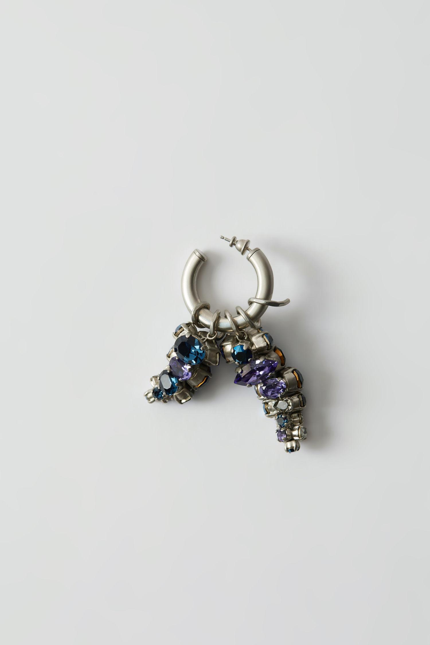 Hoop earring blue