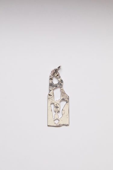 Acne Studios pendant is crafted from a hammered silver-tone brass and features a stencil of the letter 'A'  The pendant can be personalised with a chain necklace.