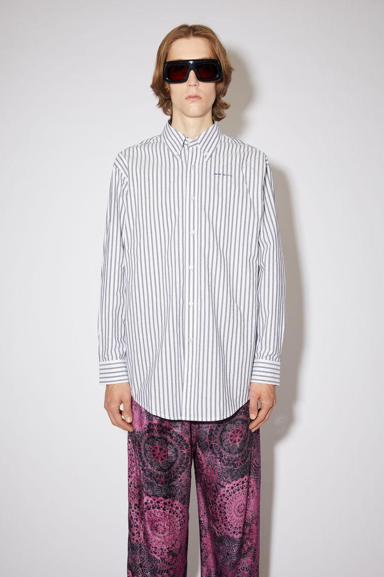 Acne Studios Clothing Striped shirt Midnight blue