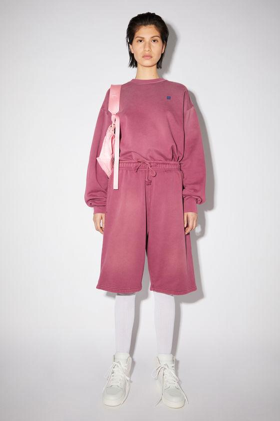 아크네 스튜디오 반바지 Acne Studios Fleece sweat shorts - Berry purple