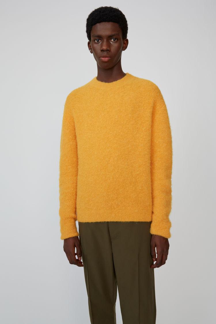 Classic Crewneck Sweater Apricot Orange by Acne Studios