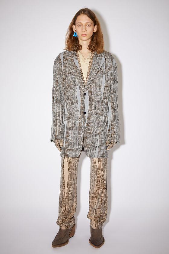 아크네 스튜디오 수트 자켓 Acne Studios Soft suit jacket - Light blue/brown
