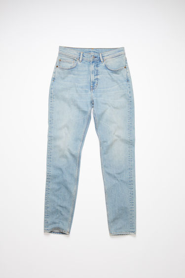 Acne Studios Melk Light Blue jeans are crafted from comfort stretch denim and shaped to sit high on the waist with slim legs that taper and crop at the ankles.They feature fading and whiskering for a subtle worn-in effect.