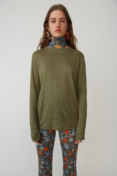 Ready-to-wear Taline LS Linen Forest green 375x