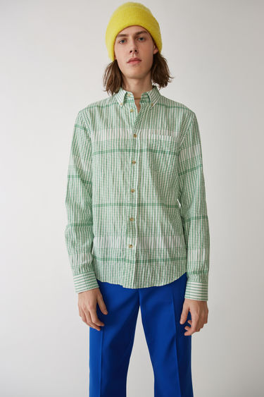 Acne Studios Isherwood Strc Co Ch White/green 375x