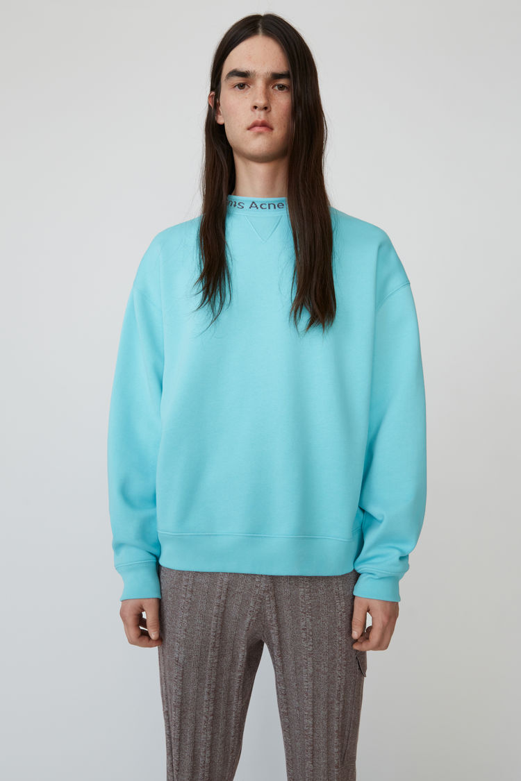 Logo Crewneck Sweatshirt Light Turquoise by Acne Studios