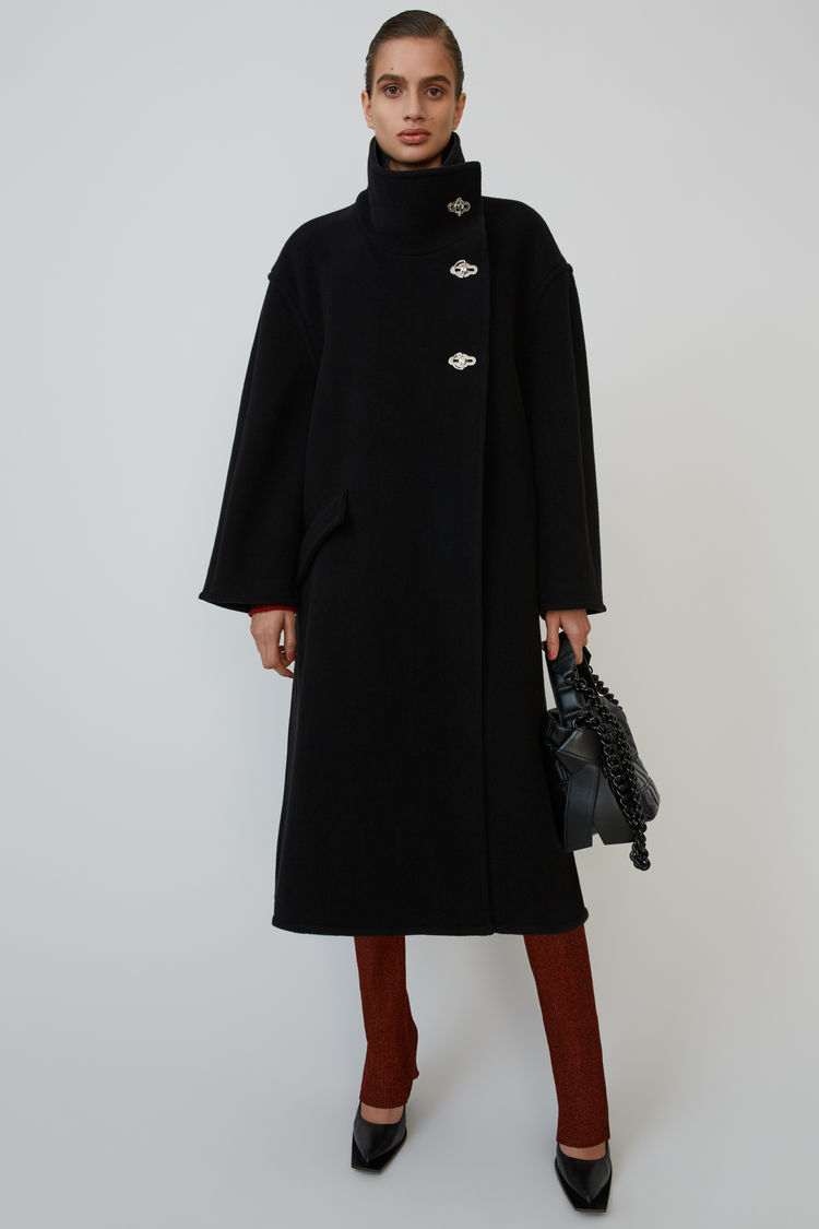 A Line Wrap Coat Black by Acne Studios